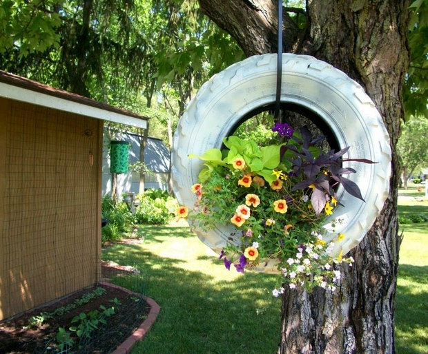 Old Tires as a Garden Decoration