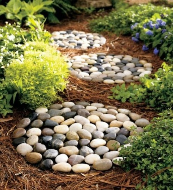 15 DIY Garden Walkway Stone Ideas